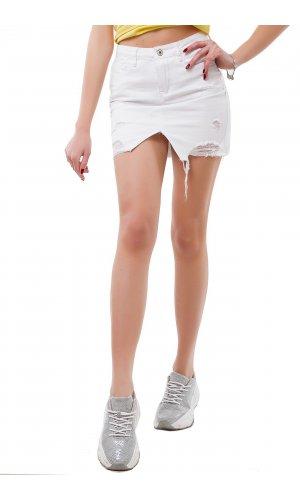 Юбка джинсовая Frendy A69-2 Белый