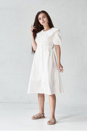 Платье короткий рукав Molorda 601198 Белый - фото 2