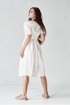 Платье короткий рукав Molorda 601198 Белый - фото 1