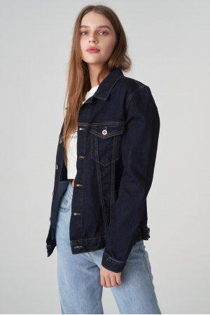 Куртка джинсовая Jlab+Remix EU0003 Тёмно синий - фото 1
