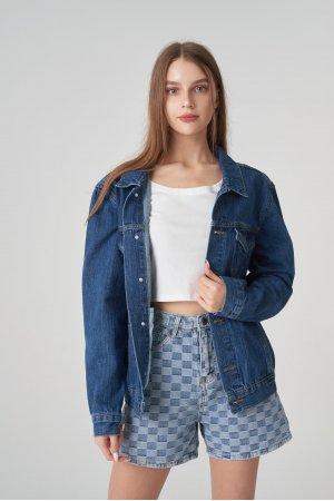 Куртка джинсовая Jlab+Remix EU0004 Синий - фото 2