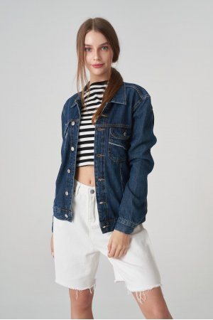 Куртка джинсовая Jlab+Remix EU0005 Синий - фото 2