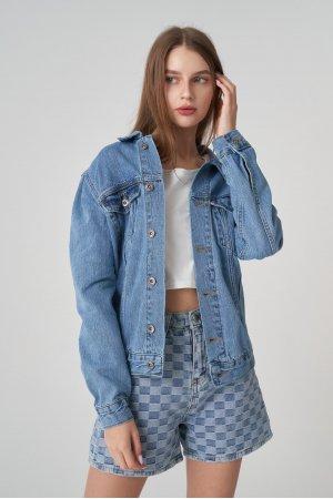 Куртка джинсовая Jlab+Remix EU0006 Голубой - фото 2