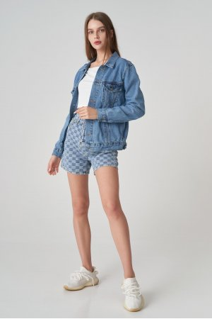 Куртка джинсовая Jlab+Remix EU0006 Голубой - фото 1