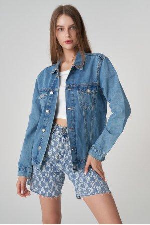Куртка джинсовая Jlab+Remix EU0007 Голубой - фото 2
