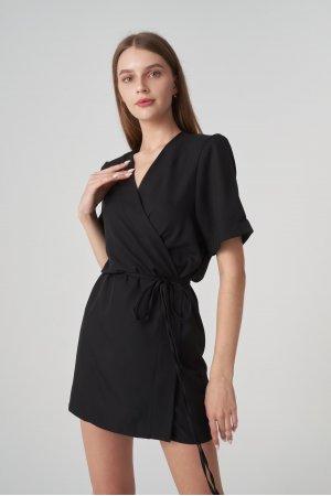 Платье короткий рукав Remix W V1977-4 Черный - фото 2
