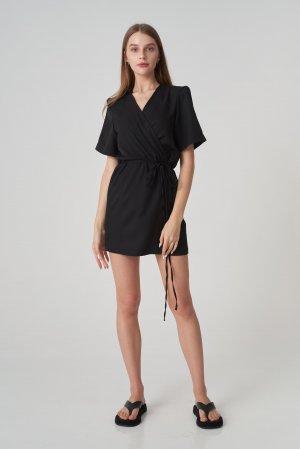 Платье короткий рукав Remix W V1977-4 Черный - фото 1