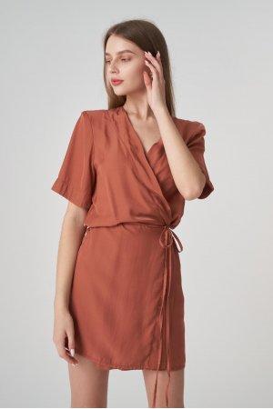 Платье короткий рукав Remix W V1977-4 Кирпичный - фото 1