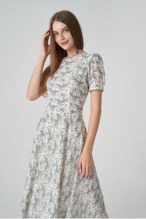 Платье короткий рукав Remix W V1977-6 Белый - фото 2
