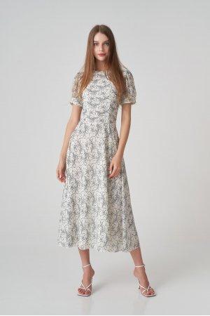 Платье короткий рукав Remix W V1977-6 Белый - фото 1