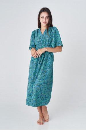 Платье короткий рукав CL 5090 Зеленый - фото 2