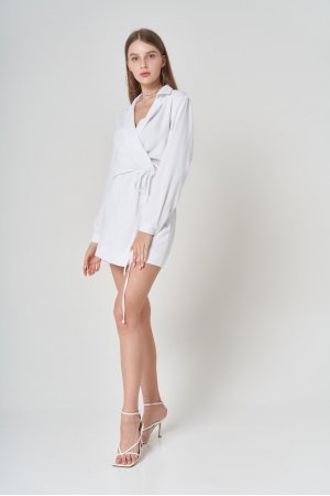 Платье Дл/рук Remix W V1977-1 Белый - фото 1