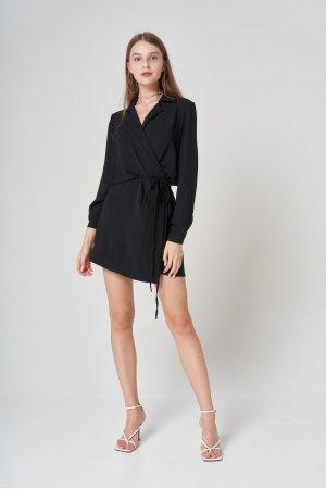 Платье Дл/рук Remix W V1977-1 Черный - фото 2