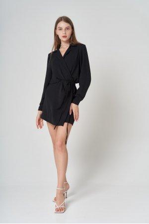 Платье Дл/рук Remix W V1977-1 Черный - фото 1