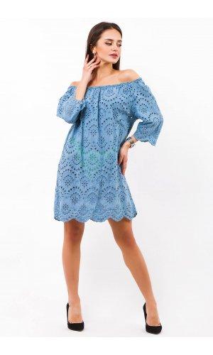 Платье Billi Fashion/More P880-1(Голубой)