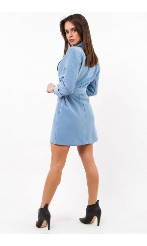 Платье + пояс Lumina L0964 (Голубой)