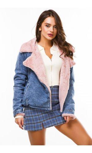 Куртка джинсовая Ruixi 6022 (Сине-Розовый)