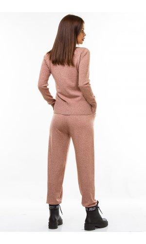 Костюм гольф+брюки Remix W D016 (Розовый)
