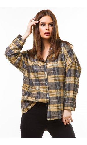 Рубашка дл/рукав Macro 3366 (Коричневый)