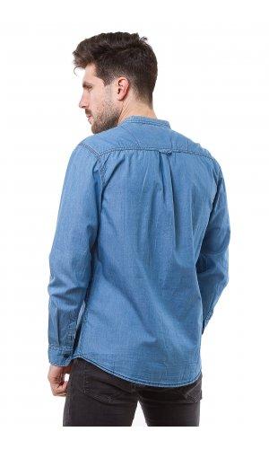 Рубашка лен X-Ray L-946B (Синий)