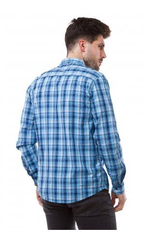 Рубашка L157B-1 (синий)