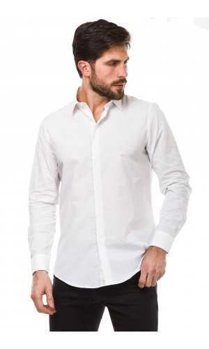 Рубашка длинный рукав Y.TWO S7511 (Белый)
