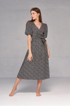 Платье короткий рукав Kiwi 5061-1 Черный - фото 1