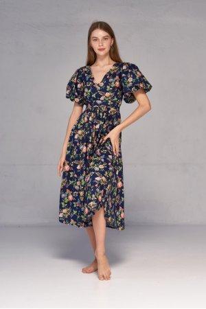 Платье короткий рукав Kiwi 5062 Тёмно синий - фото 2