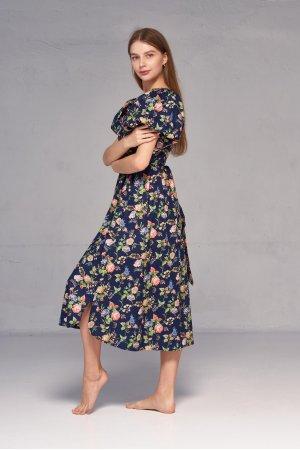 Платье короткий рукав Kiwi 5062 Тёмно синий - фото 1