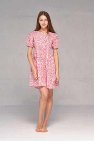 Платье короткий рукав Kiwi 5065 Розовый - фото 2