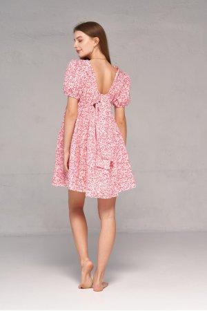 Платье короткий рукав Kiwi 5065 Розовый - фото 1