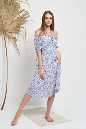 Платье Короткий Рукав Molorda 601082 (Голубой) - фото 2
