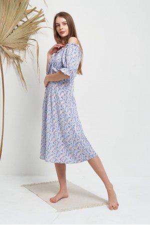Платье Короткий Рукав Molorda 601082 (Голубой) - фото 1