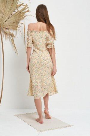 Платье Короткий Рукав Molorda 601082 (Желтый) - фото 1