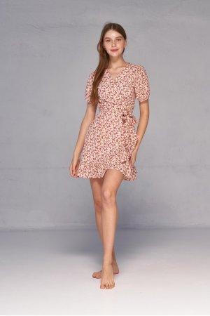 Платье короткий рукав Molorda 601161 Красный - фото 2