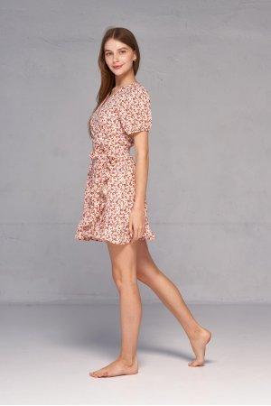 Платье короткий рукав Molorda 601161 Красный - фото 1