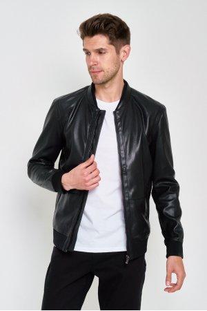 Куртка Кожзам Puduoli 7835 (Черный) - фото 2