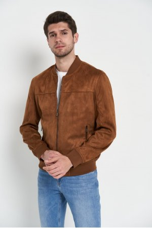 Куртка замшевая Puduoli 7868 Коричневый - фото 2