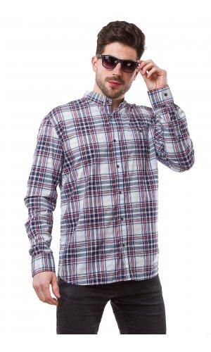 Рубашка Jlab+Remix 006-11 (Синий)