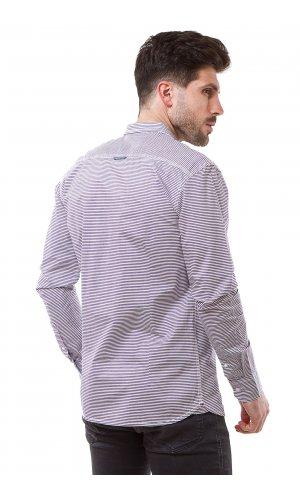 Рубашка Jlab+Remix 007-7 (Бело-коричневый)