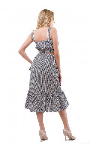 Костюм топ + юбка Shan yue 1059 (Серый)