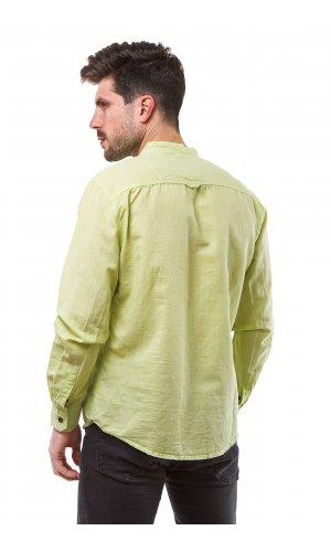 Рубашка лен X-Ray L-948D (Салатовый)
