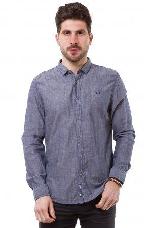 Рубашка лен дл/рукав X-Ray L156 Синий