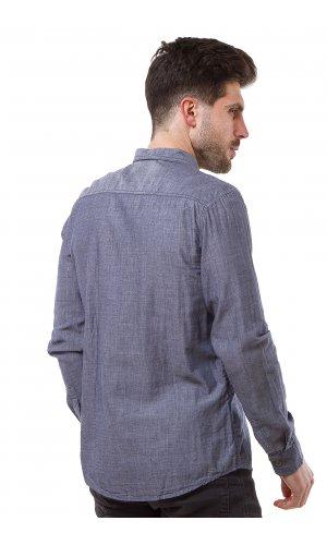 Рубашка лен X-Ray L156 (Синий)