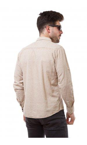 Рубашка лен X-Ray L180B (Бежевый)