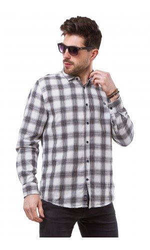 Рубашка X-Ray L227-3 (Серый-клетка)