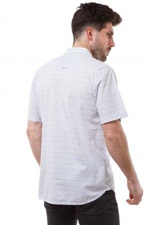 Рубашка лен кор/рукав Jlab+Remix SC04 Голубой
