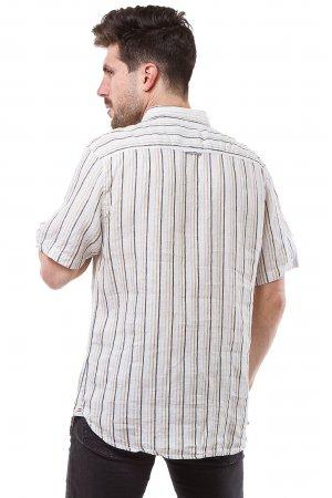 Рубашка лен кор/рукав Jlab+Remix SC05 Белый