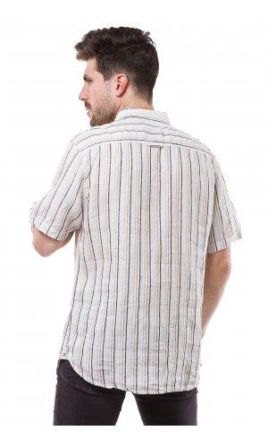 Рубашка лен Jlab+Remix SC05 (Белый)