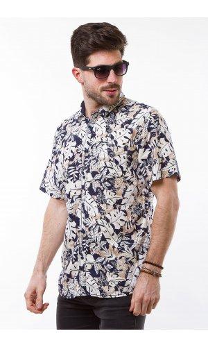 Рубашка лен Jlab+Remix SC02 (Белый)
